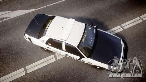 Ford Crown Victoria Sheriff Dukes [ELS] para GTA 4 visión correcta