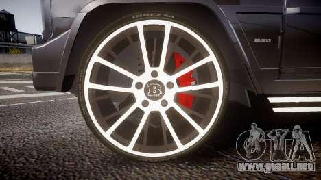 Mercedes-Benz G65 Brabus rims2 para GTA 4 vista hacia atrás