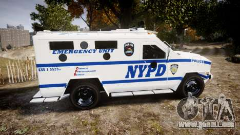 Lenco BearCat NYPD ESU [ELS] para GTA 4 left