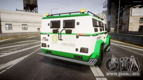 Gruppe6 Van [ELS] para GTA 4 Vista posterior izquierda