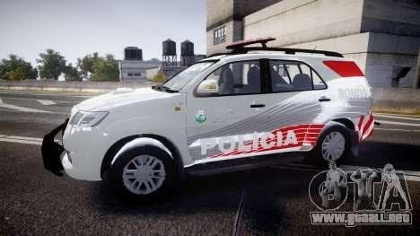 Toyota Hilux SW4 2014 Ronda PMCE [ELS] para GTA 4 left