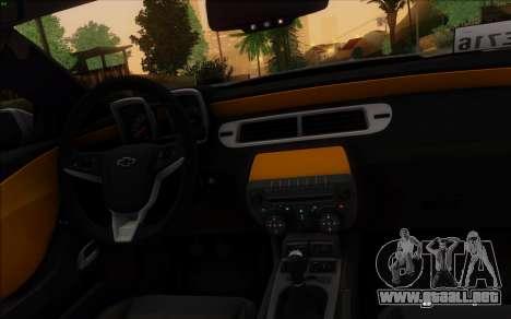 Chevrolet Camaro VR (IVF) para GTA San Andreas vista posterior izquierda