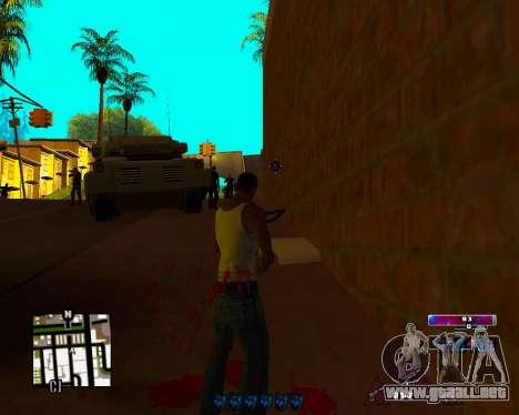 Space C-HUD v2.0 para GTA San Andreas tercera pantalla
