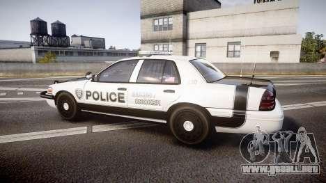 Ford Crown Victoria Sheriff Dukes [ELS] para GTA 4 left