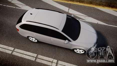 Skoda Octavia Combi vRS 2014 [ELS] Unmarked para GTA 4 visión correcta
