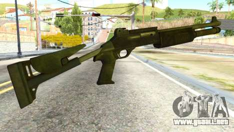 Shotgun from Global Ops: Commando Libya para GTA San Andreas segunda pantalla