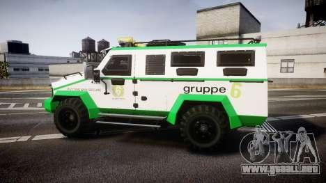 Gruppe6 Van [ELS] para GTA 4 left