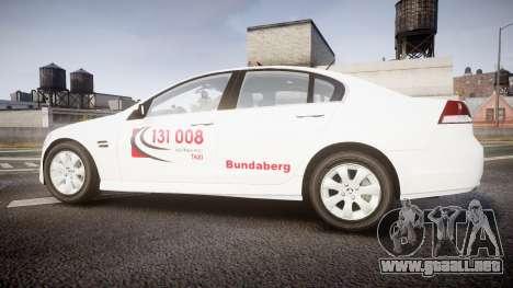 Holden Commodore Omega Queensland Taxi v3.0 para GTA 4 left