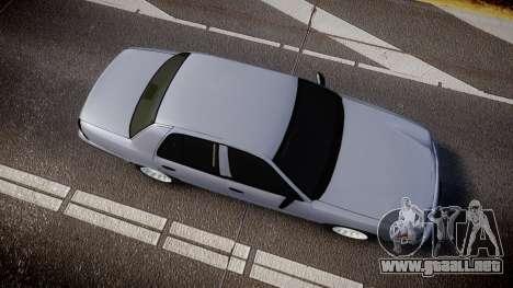 Ford Crown Victoria Unmarked Police [ELS] para GTA 4 visión correcta