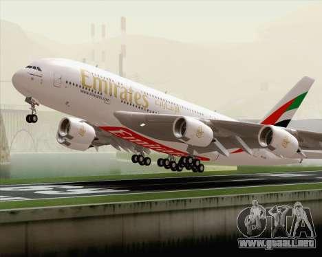 Airbus A380-800 Emirates (A6-EDH) para vista lateral GTA San Andreas
