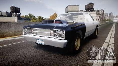 Dodge Dart HEMI Super Stock 1968 rims1 para GTA 4