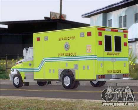 Pierce Commercial Miami Dade Fire Rescue 12 para la visión correcta GTA San Andreas