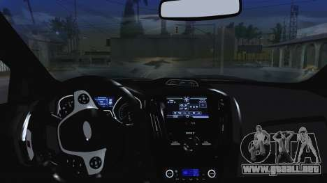 Ford Focus ST 2013 para la vista superior GTA San Andreas