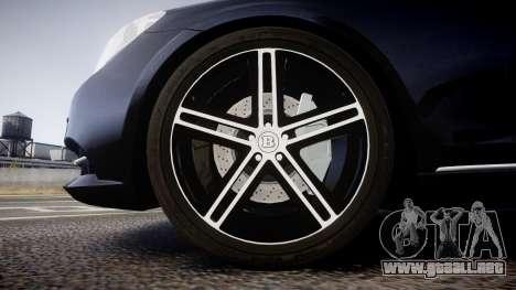 Mercedes-Benz S500 W222 para GTA 4 vista hacia atrás