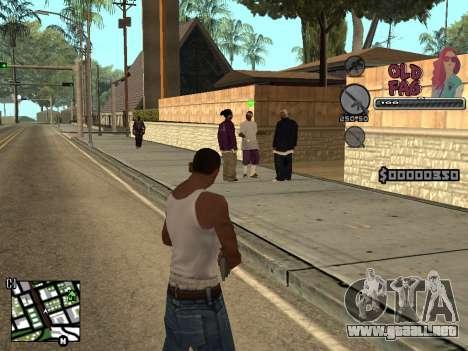 C-HUD Universal v2 para GTA San Andreas tercera pantalla
