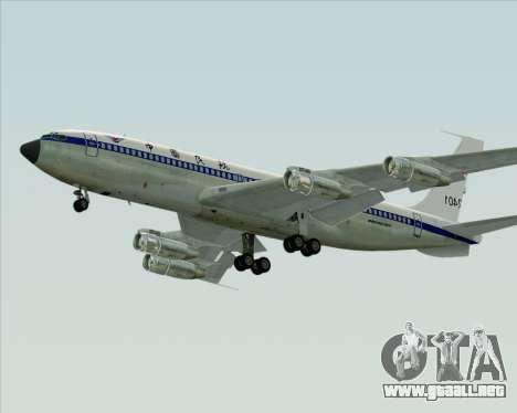 Boeing 707-300 CAAC para GTA San Andreas vista posterior izquierda