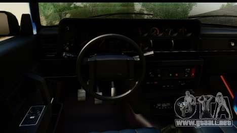 Volvo 242 Cabrio para GTA San Andreas vista hacia atrás