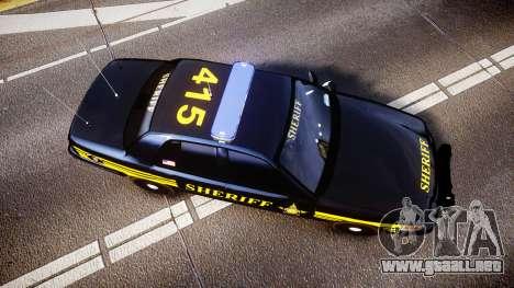 Ford Crown Victoria Sheriff [ELS] black para GTA 4 visión correcta