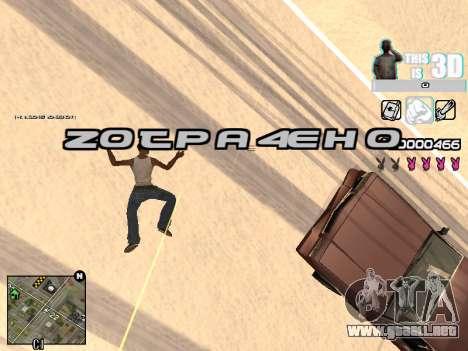 C-HUD 3D para GTA San Andreas sexta pantalla