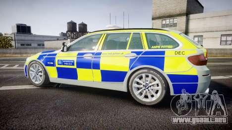 BMW 525d F11 2014 Metropolitan Police [ELS] para GTA 4 left