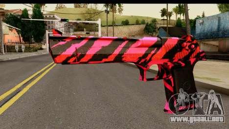 Red Tiger Desert Eagle para GTA San Andreas