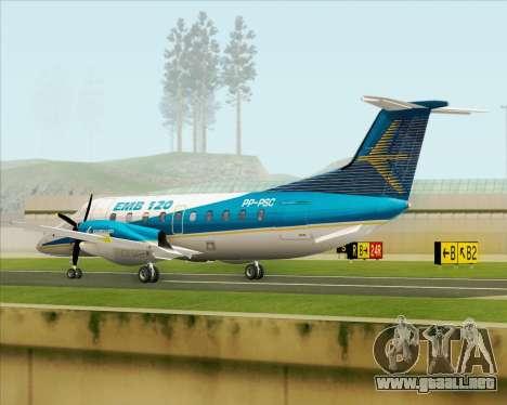 Embraer EMB 120 Brasilia Embraer Livery para la visión correcta GTA San Andreas