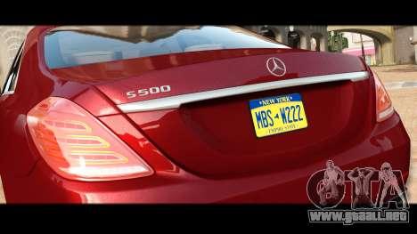 Mercedes-Benz S500 W222 para GTA 4 vista lateral