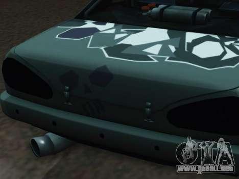 Elegy Korch para GTA San Andreas vista hacia atrás