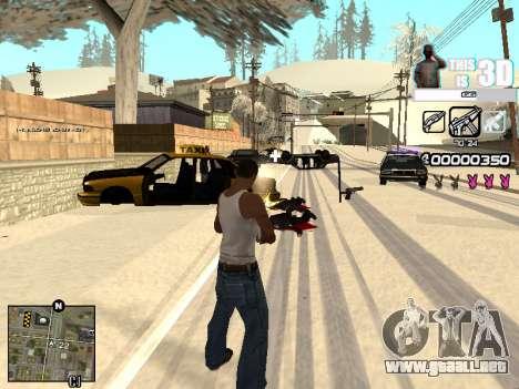 C-HUD 3D para GTA San Andreas sucesivamente de pantalla