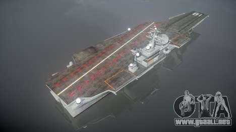 USS Flysenhower para GTA 4 tercera pantalla