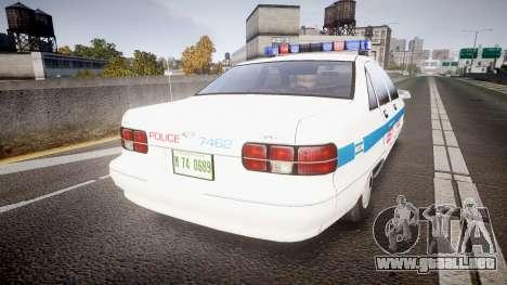 Chevrolet Caprice Liberty Police [ELS] para GTA 4 Vista posterior izquierda