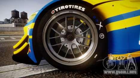 BMW Z4 GT3 2012 Northwest para GTA 4 vista hacia atrás