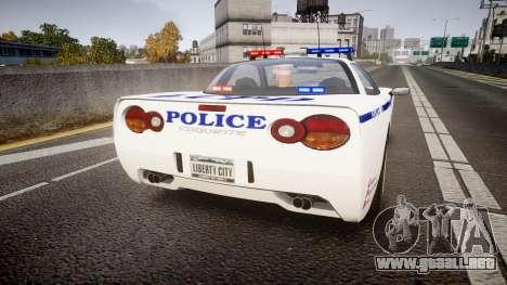 Invetero Coquette Police Interceptor [ELS] para GTA 4 Vista posterior izquierda