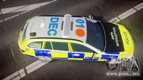 BMW 525d F11 2014 Metropolitan Police [ELS] para GTA 4 visión correcta