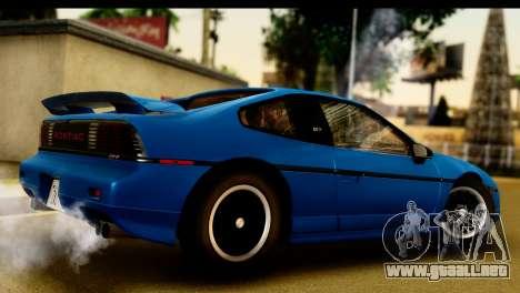 Pontiac Fiero GT G97 1985 IVF para la visión correcta GTA San Andreas