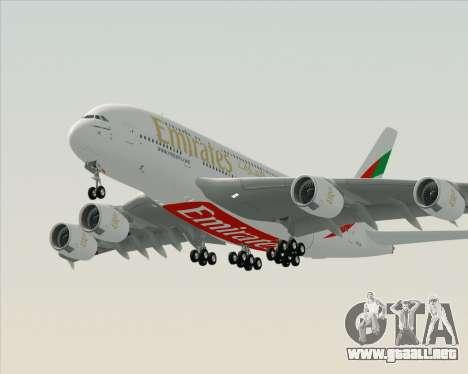 Airbus A380-800 Emirates (A6-EDH) para GTA San Andreas left