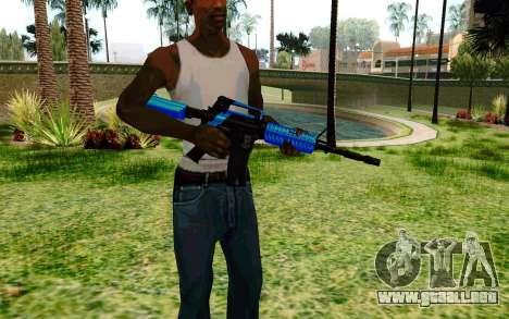 M4 Blue para GTA San Andreas segunda pantalla