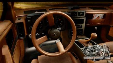 Pontiac Fiero GT G97 1985 IVF para GTA San Andreas vista hacia atrás