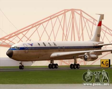 Boeing 707-300 CAAC para GTA San Andreas left