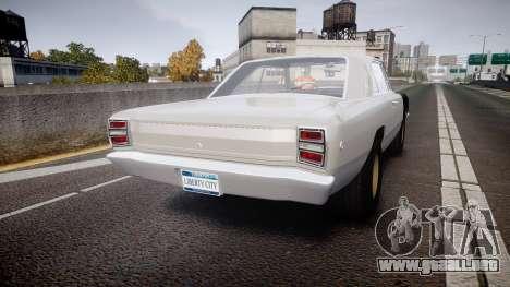 Dodge Dart HEMI Super Stock 1968 rims1 para GTA 4 Vista posterior izquierda