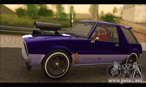 Declasse Rhapsody v2 (Fixed Extra) (GTA V) para GTA San Andreas vista posterior izquierda
