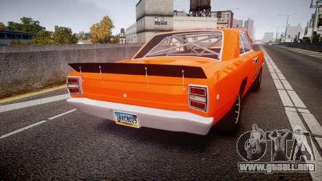 Dodge Dart HEMI Super Stock 1968 rims4 para GTA 4 Vista posterior izquierda