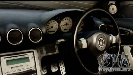 Nissan Silvia S15 Camber Edition para GTA San Andreas vista posterior izquierda