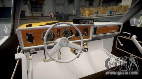Ford Fairmont 1978 Taxi v1.1 para GTA 4 vista hacia atrás