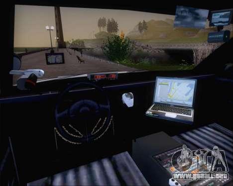 Police LS Metropolitan Police para GTA San Andreas vista hacia atrás