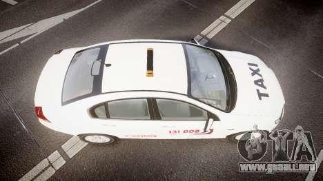 Holden Commodore Omega Queensland Taxi v3.0 para GTA 4 visión correcta