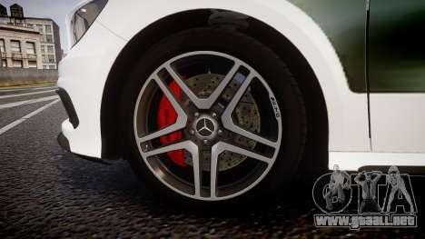 Mersedes-Benz A45 AMG PJs3 para GTA 4 vista hacia atrás