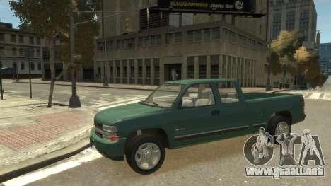 Chevrolet Silverado 1500 para GTA 4 vista hacia atrás