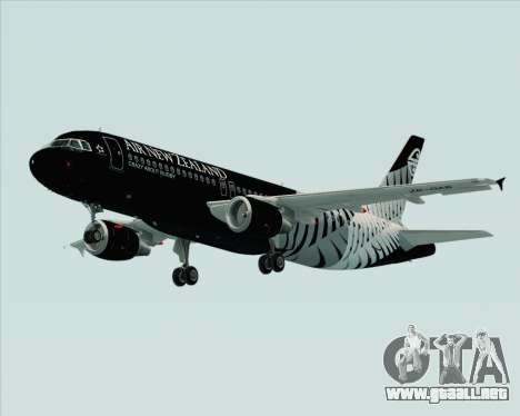 Airbus A320-200 Air New Zealand para la vista superior GTA San Andreas