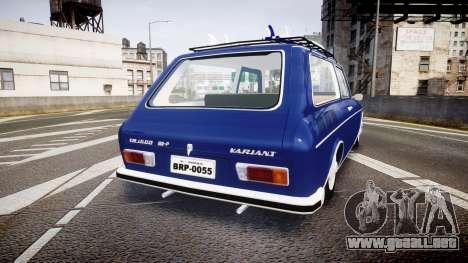 Volkswagen 1600 Variant 1973 para GTA 4 Vista posterior izquierda